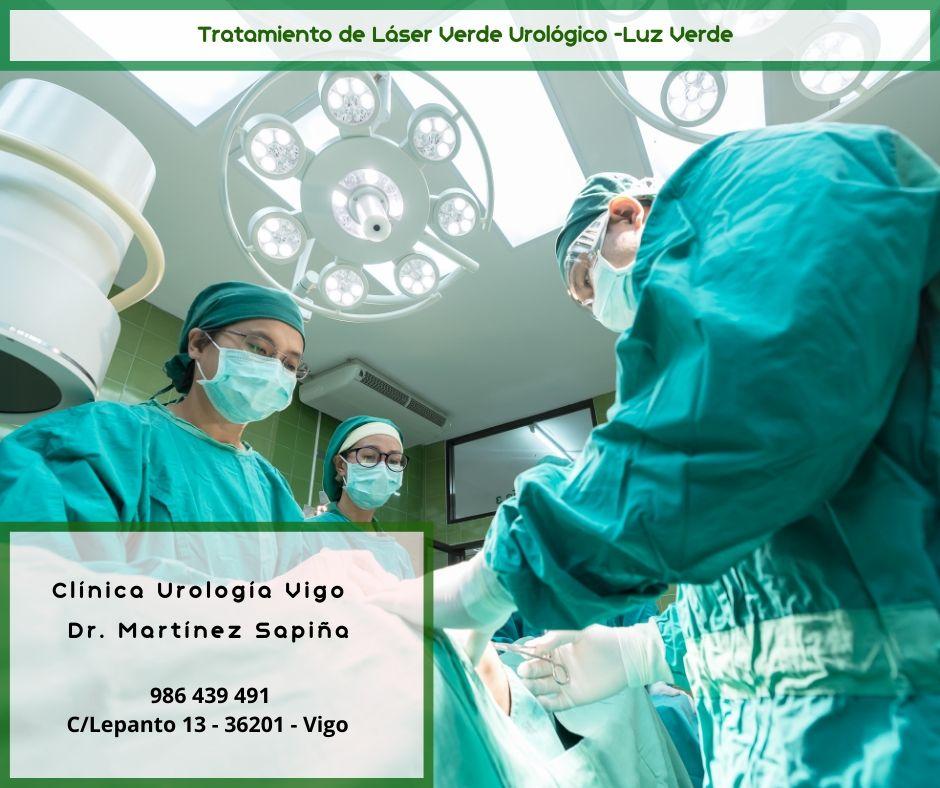 Tratamiento de Luz Verde Láser urológico